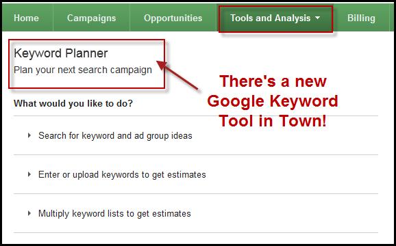 Keyword Planner, Google Adwords, Google reklāma