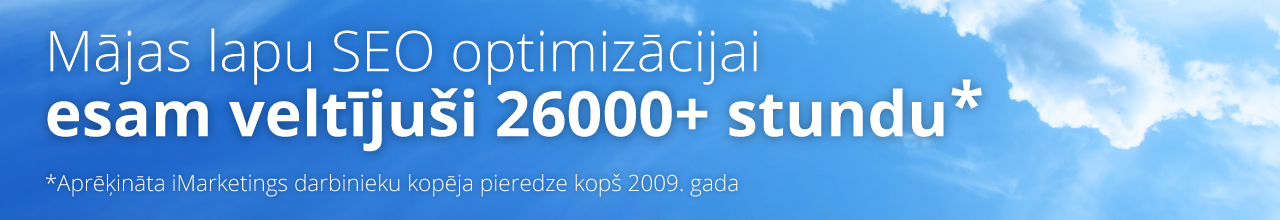 SEO optimizācija | SEO pakalpojumi - iMarketings.lv