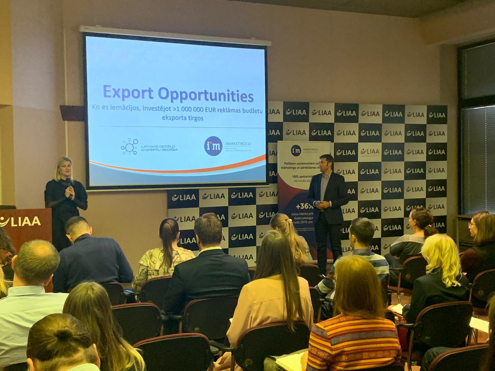 """Notika iMarketings.lv seminārs """"Eksporta veicināšana, izmantojot digitālo mārketingu"""""""