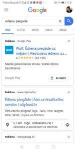 App, aplikācijas Google reklāma