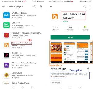 App, aplikāciju optimizācija - ASO (App Store Optimization), Title, Descrtiption