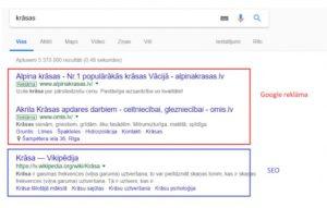 Google reklāma un seo
