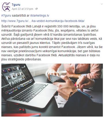 facebook bloga ieraksti