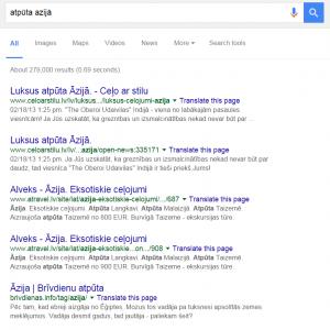 Organiskie meklēšanas rezultāti