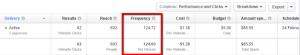 Facebook Analīze un rādītāji - Frequency