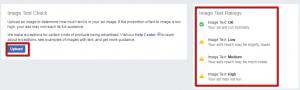 Teksta daudzums reklāmas maketā. Facebook reklāmā