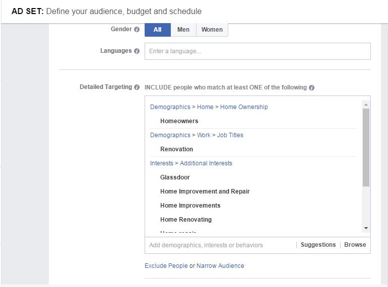 Facebook reklāma - iMarketings.lv. Intereses