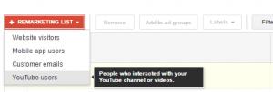 Youtube remarketinga sarakstu izveidošana 1
