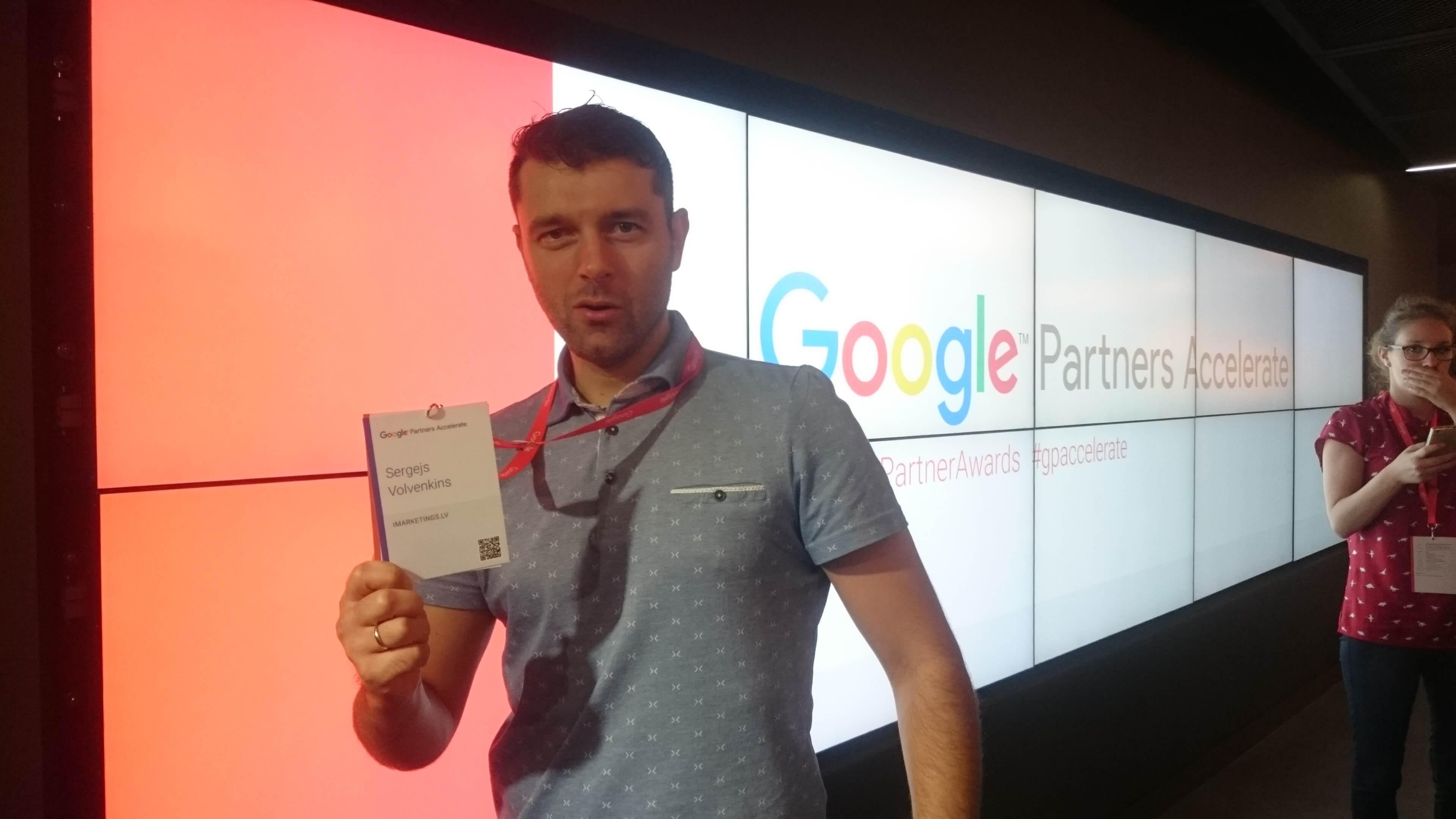 Google Partners Awards - Sergejs Volvenkins
