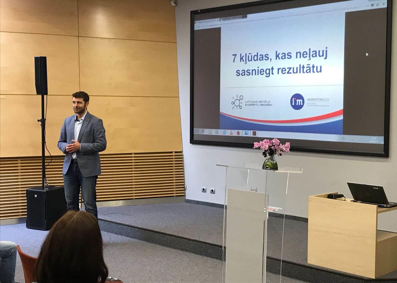 Google rīkotais seminārs Swedbanks klientiem par Google reklāmu, Facebook reklāmu, Youtube reklāmu