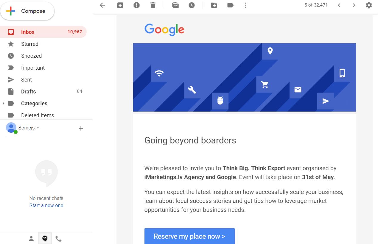 Google pasākums kopā ar iMarketings.lv eksportējošiem uzņēmumiem.